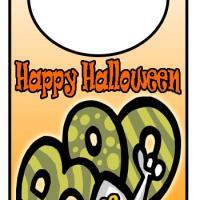 Boo It's Halloween Doorhanger