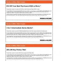 Books-a-Million Various Coupons