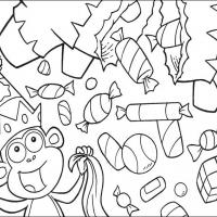 Printable Boots Showered With Goodies - Printable Dora The Explorer - Free Printable Coloring Pages