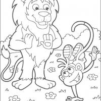 Printable Boots' Stunt - Printable Dora The Explorer - Free Printable Coloring Pages