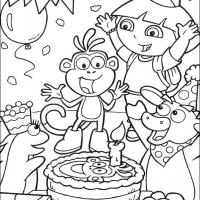 Printable Boots' Surprise Birthday Party - Printable Dora The Explorer - Free Printable Coloring Pages