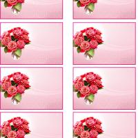 Printable Bouquet Of Roses Name Tag - Printable Name Tags - Misc Printables