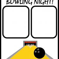 Printable Bowling Night - Printable Scrapbook - Free Printable Crafts