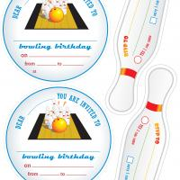 Printable Bowling Party Invitations - Printable Party Invitation Cards - Free Printable Invitations