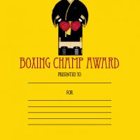 Printable Boxing Champ Award - Printable Awards - Misc Printables