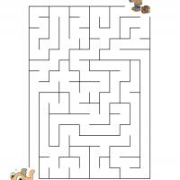 Printable Boy Catching Fish - Printable Mazes - Free Printable Games
