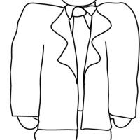 Printable Boy in Dad's Clothes - Printable Coloring Sheets - Free Printable Coloring Pages