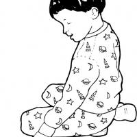 Printable Boy in Pyjamas - Printable Coloring Sheets - Free Printable Coloring Pages