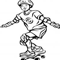 Printable Boy in Skateboard - Printable Coloring Sheets - Free Printable Coloring Pages