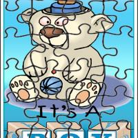Printable Boy Teddy Bear - Printable Puzzles - Free Printable Games