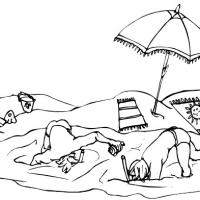 Printable Boys Snorkeling - Printable Coloring Sheets - Free Printable Coloring Pages