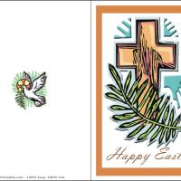 Printable Brown Cross - Printable Easter Cards - Free Printable Cards