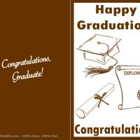 Printable Brown Graduation Card - Printable Graduation Cards - Free Printable Cards