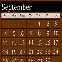 Printable Brown September 2011 Calendar - Printable Monthly Calendars - Free Printable Calendars