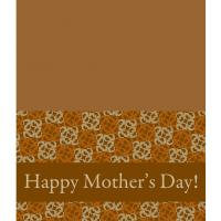 Printable Brown Swirls Mother's Day Card - Printable Mothers Day Cards - Free Printable Cards