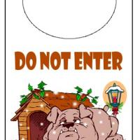 Printable Holiday Bulldog Door Knob Hanger - Printable Fun - Free Printable Activities