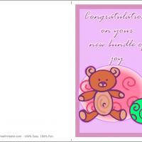 Printable Bundle Of Joy - Printable Baby Cards - Free Printable Cards