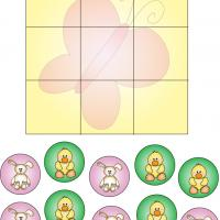 Printable Bunny and Duck Tic Tac Toe - Printable Board Games - Free Printable Games