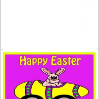 Printable Bunny In A Car - Printable Easter Cards - Free Printable Cards