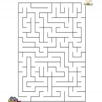 Printable Bunny Painting Eggs Maze - Printable Mazes - Free Printable Games