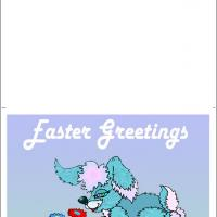 Printable Bunny Smelling The Flowers - Printable Easter Cards - Free Printable Cards
