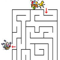 Printable Busy Little Chick Maze - Printable Mazes - Free Printable Games