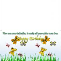 Printable Butterflies For Your Wishes To Take Wing - Printable Birthday Cards - Free Printable Cards