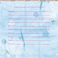 Printable Butterfly Baby Shower Game - Printable Party Supplies - Misc Printables