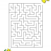 Printable Butterfly Finding The Flower - Printable Mazes - Free Printable Games