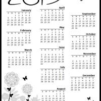 Printable Butterfly Garden 2013 Calendar - Printable Yearly Calendar - Free Printable Calendars