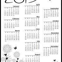 Butterfly Garden 2013 Calendar