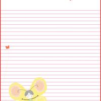 Printable Butterfly Stationary - Printable Stationary - Free Printable Activities
