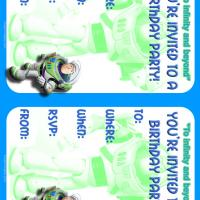 Printable Buzz Lightyear Birthday Party Invitation - Printable Birthday Invitation Cards - Free Printable Invitations
