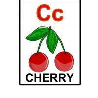 Printable C is for Cherry Flash Card - Printable Flash Cards - Free Printable Lessons