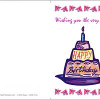Printable Cake For Birthday - Printable Birthday Cards - Free Printable Cards