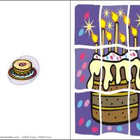 Printable Cake Puzzle - Printable Birthday Cards - Free Printable Cards