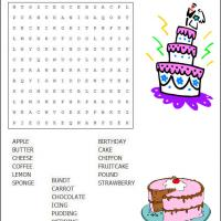 Cake Word Search