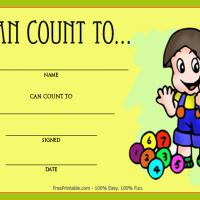 Printable Can Count To Award - Printable Awards - Misc Printables
