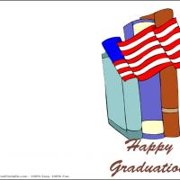 Printable Candid American Flag - Printable Graduation Cards - Free Printable Cards