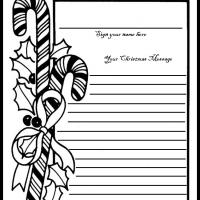Candy Cane Guest Book Page