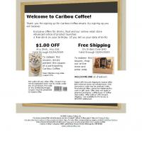 Caribou Coffee $1 Off
