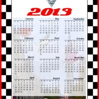 Printable Cars2 2013 Full Year Calendar - Printable Yearly Calendar - Free Printable Calendars