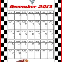 Cars2 Mack December 2013 Calendar