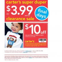 Printable Carter's $10 Off on Purchases of $50 and Up - Printable Discount Coupons - Free Printable Coupons