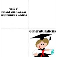 Printable Cartoon Graduate with Diploma - Printable Graduation Cards - Free Printable Cards