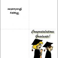 Printable Cartoon Graduates - Printable Graduation Cards - Free Printable Cards