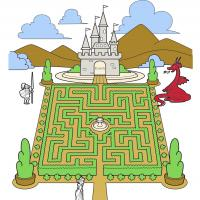 Printable Castle Garden Maze - Printable Mazes - Free Printable Games