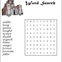 Printable Castles Word Search - Printable Word Search - Free Printable Games