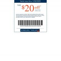 Printable Casual Male $20 Off on Purchases of $75 and Up - Printable Discount Coupons - Free Printable Coupons