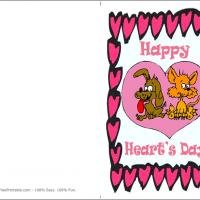 Printable Cat And Dog Making Card - Printable Valentines - Free Printable Cards